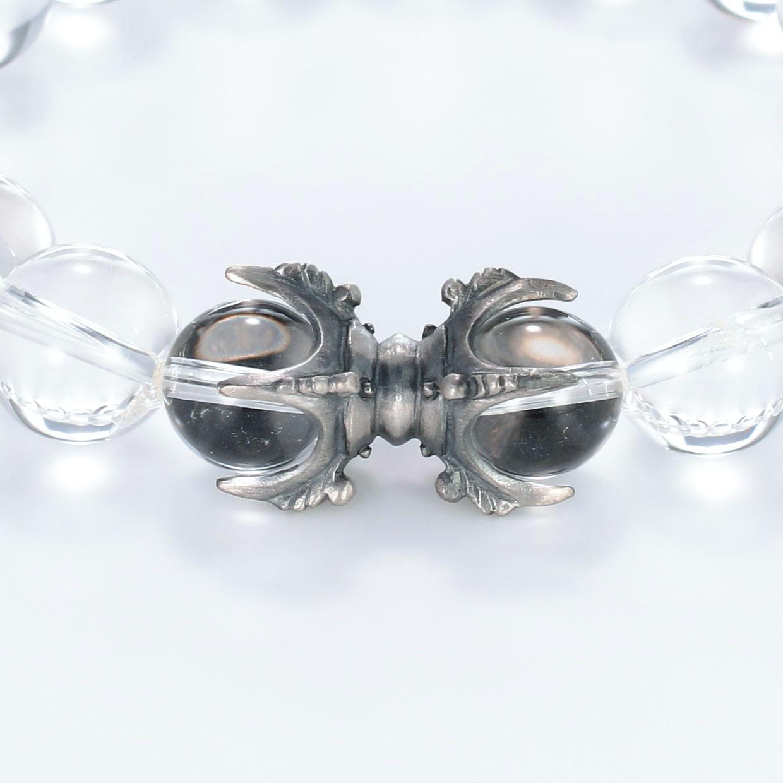 和風と仏具と開運・ラッキーとその他のモチーフのデザインが特徴的な銀風ブレスレットの商品写真です。型番:GP401007-01 画像その2
