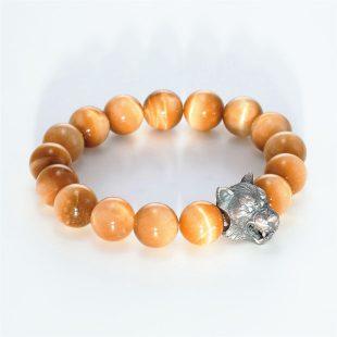 宝石キュービックを使ったアニマルと和風のデザインが特徴的な銀風ブレスレットの商品写真です。型番:GP401005-01 画像その4