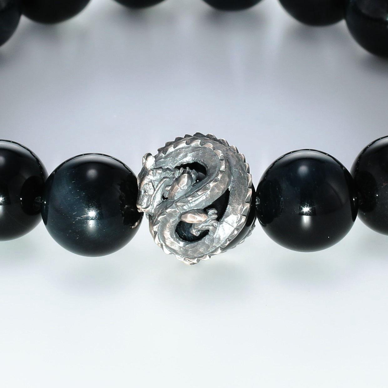 宝石ダイヤモンドを使ったドラゴンのデザインが特徴的な銀風ブレスレットの商品写真です。型番:GP401003-01 画像その2
