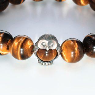 宝石ダイヤモンドを使った和風と開運・ラッキーとその他のモチーフのデザインが特徴的な銀風ブレスレットの商品写真です。型番:GP401006-01 画像その2