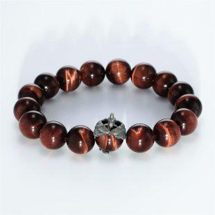 宝石ダイヤモンドを使ったその他のモチーフのデザインが特徴的な銀風ブレスレットの商品写真です。型番:GP401004-01 画像その1