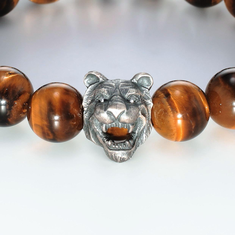 宝石その他の宝石を使ったアニマルと和風のデザインが特徴的な銀風ブレスレットの商品写真です。型番:GP401001-01 画像その2