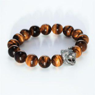 宝石その他の宝石を使ったアニマルと和風のデザインが特徴的な銀風ブレスレットの商品写真です。型番:GP401001-01 画像その4