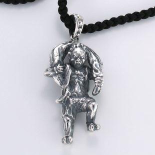 和風とその他のモチーフのデザインが特徴的な銀風ネックレス/ペンダントの商品写真です。型番:GP201007-01~02 画像その2