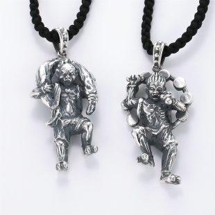 和風とその他のモチーフのデザインが特徴的な銀風ネックレス/ペンダントの商品写真です。型番:GP201007-01~02 画像その6