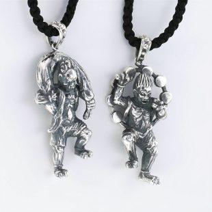 和風とその他のモチーフのデザインが特徴的な銀風ネックレス/ペンダントの商品写真です。型番:GP201007-01~02 画像その7