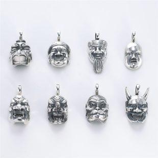 和風とその他のモチーフのデザインが特徴的な銀風ネックレス/ペンダントの商品写真です。型番:GP201008-01~08 画像その7
