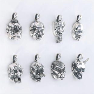 和風とその他のモチーフのデザインが特徴的な銀風ネックレス/ペンダントの商品写真です。型番:GP201008-01~08 画像その8