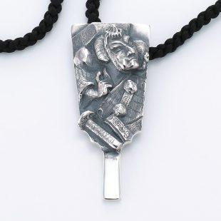 和風とその他のモチーフのデザインが特徴的な銀風ネックレス/ペンダントの商品写真です。型番:GP201009-01~06 画像その2