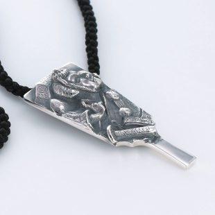 和風とその他のモチーフのデザインが特徴的な銀風ネックレス/ペンダントの商品写真です。型番:GP201009-01~06 画像その4