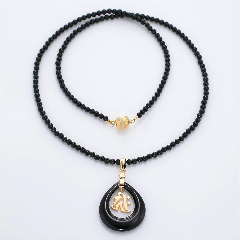 和風と梵字と開運・ラッキーのデザインが特徴的な銀風ネックレス/ペンダントの商品写真です。型番:GP201004-01~07 画像その1