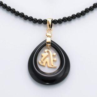 和風と梵字と開運・ラッキーのデザインが特徴的な銀風ネックレス/ペンダントの商品写真です。型番:GP201004-01~07 画像その2