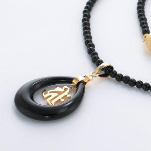 和風と梵字と開運・ラッキーのデザインが特徴的な銀風ネックレス/ペンダントの商品写真です。型番:GP201004-01~07 画像その3