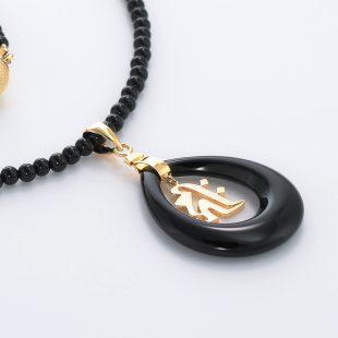 和風と梵字と開運・ラッキーのデザインが特徴的な銀風ネックレス/ペンダントの商品写真です。型番:GP201004-01~07 画像その4