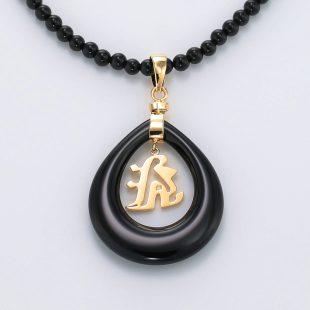和風と梵字と開運・ラッキーのデザインが特徴的な銀風ネックレス/ペンダントの商品写真です。型番:GP201004-01~07 画像その5
