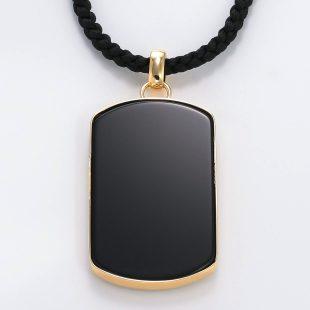 宝石オニキスを使った和風と菩薩のデザインが特徴的な銀風ネックレス/ペンダントの商品写真です。型番:GP201005-01~08 画像その5