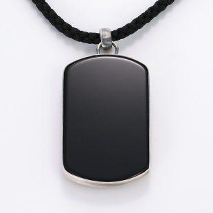 宝石オニキスを使った和風とその他のモチーフのデザインが特徴的な銀風ネックレス/ペンダントの商品写真です。型番:GP201012-01~02 画像その5