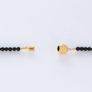 宝石オニキスとクォーツ・水晶とダイヤモンドを使った和風と菩薩のデザインが特徴的な銀風ネックレス/ペンダントの商品写真です。型番:GP201003-01~08 画像その7