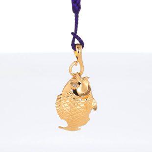 宝石ダイヤモンドを使った開運・ラッキーとその他のモチーフのデザインが特徴的な銀風根付・ピンズの商品写真です。型番:GP501005-01 画像その5