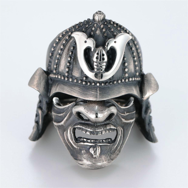 和風のデザインが特徴的な銀風指輪の商品写真です。型番:GP101010-01 画像その1