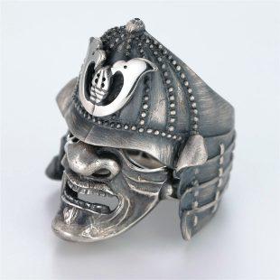 和風のデザインが特徴的な銀風指輪の商品写真です。型番:GP101010-01 画像その2