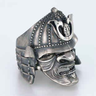 和風のデザインが特徴的な銀風指輪の商品写真です。型番:GP101010-01 画像その3