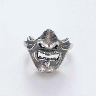和風のデザインが特徴的な銀風指輪の商品写真です。型番:GP101010-01 画像その6