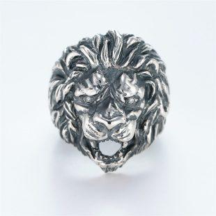 宝石ダイヤモンドを使ったアニマルのデザインが特徴的な銀風指輪の商品写真です。型番:GP101001-01 画像その1