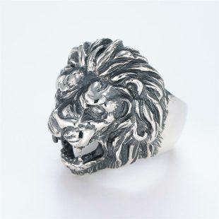 宝石ダイヤモンドを使ったアニマルのデザインが特徴的な銀風指輪の商品写真です。型番:GP101001-01 画像その2