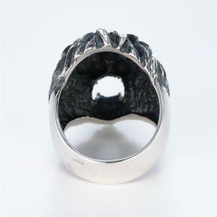 宝石ダイヤモンドを使ったアニマルのデザインが特徴的な銀風指輪の商品写真です。型番:GP101001-01 画像その4
