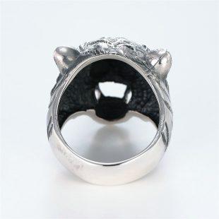 宝石ダイヤモンドを使ったアニマルのデザインが特徴的な銀風指輪の商品写真です。型番:GP101002-01 画像その4