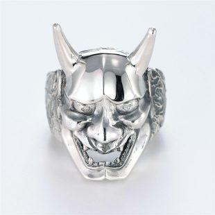 宝石ダイヤモンドを使った和風とその他のモチーフのデザインが特徴的な銀風指輪の商品写真です。型番:GP101006-01 画像その1