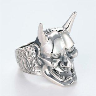 宝石ダイヤモンドを使った和風とその他のモチーフのデザインが特徴的な銀風指輪の商品写真です。型番:GP101006-01 画像その3