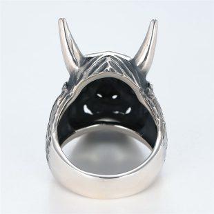 宝石ダイヤモンドを使った和風とその他のモチーフのデザインが特徴的な銀風指輪の商品写真です。型番:GP101006-01 画像その4