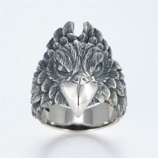 宝石ダイヤモンドを使ったその他のモチーフのデザインが特徴的な銀風指輪の商品写真です。型番:GP101007-01 画像その1