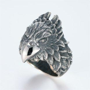 宝石ダイヤモンドを使ったその他のモチーフのデザインが特徴的な銀風指輪の商品写真です。型番:GP101007-01 画像その2