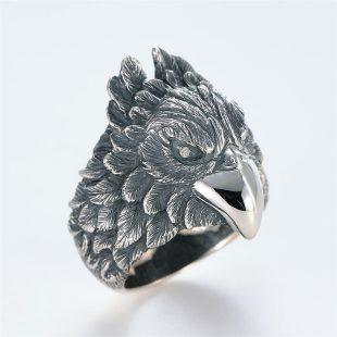 宝石ダイヤモンドを使ったその他のモチーフのデザインが特徴的な銀風指輪の商品写真です。型番:GP101007-01 画像その3