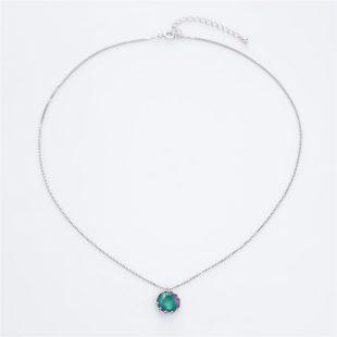 宝石クォーツ・水晶を使った和の彩ネックレス/ペンダントの商品写真です。型番:CR201001-01~02 画像その1