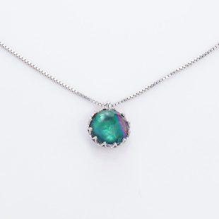 宝石クォーツ・水晶を使った和の彩ネックレス/ペンダントの商品写真です。型番:CR201001-01~02 画像その2