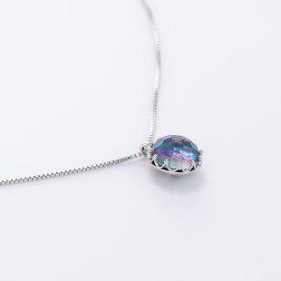 宝石クォーツ・水晶を使った和の彩ネックレス/ペンダントの商品写真です。型番:CR201001-01~02 画像その4