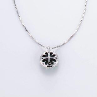 宝石クォーツ・水晶を使った和の彩ネックレス/ペンダントの商品写真です。型番:CR201001-01~02 画像その5