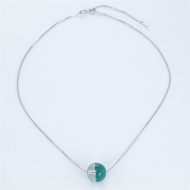 宝石クォーツ・水晶を使った和の彩ネックレス/ペンダントの商品写真です。型番:CR201018-01~05 画像その1