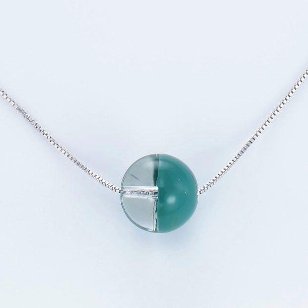 宝石クォーツ・水晶を使った和の彩ネックレス/ペンダントの商品写真です。型番:CR201018-01~05 画像その2