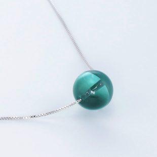 宝石クォーツ・水晶を使った和の彩ネックレス/ペンダントの商品写真です。型番:CR201018-01~05 画像その4