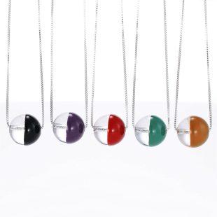 宝石クォーツ・水晶を使った和の彩ネックレス/ペンダントの商品写真です。型番:CR201018-01~05 画像その5