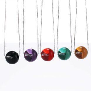 宝石クォーツ・水晶を使った和の彩ネックレス/ペンダントの商品写真です。型番:CR201018-01~05 画像その6