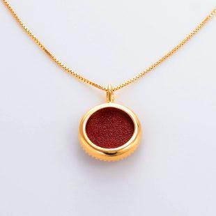 宝石クォーツ・水晶を使った花のデザインが特徴的な和の彩ネックレス/ペンダントの商品写真です。型番:CR201002-01~02 画像その5