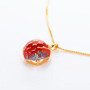 宝石クォーツ・水晶を使った花と和風のデザインが特徴的な和の彩ネックレス/ペンダントの商品写真です。型番:CR201010-01~02 画像その3