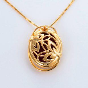 宝石クォーツ・水晶を使った和風のデザインが特徴的な和の彩ネックレス/ペンダントの商品写真です。型番:CR201004-01~02 画像その5