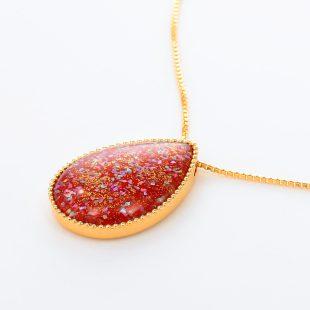 宝石クォーツ・水晶を使った和風のデザインが特徴的な和の彩ネックレス/ペンダントの商品写真です。型番:CR201007-01~02 画像その3
